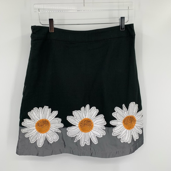 Pastel Pink White Daisy Floral High Waisted Skort  Coldwater Creek  Size Small
